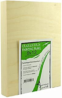 product image for American Easel 1 5/8 in. Cradled Wood Painting Panels 9 in. x 12 in. [PACK OF 2 ]