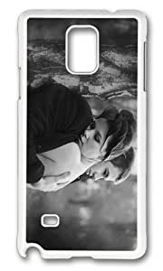 Adorable Hug me Darling Hard Case Protective Shell Cell Phone Cover For Samsung Galaxy Note 4 - PC White