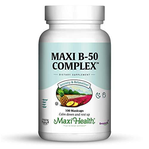 Cheap Maxi Health Vitamin B-50 Complex – with Inositol & Biotin – Stress Formula – 100 Capsules – Kosher