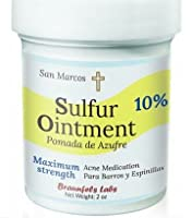 3 PACK- Two (2) 10% Sulfur Ointment + (1) SAL3 Soap, 10% Sulfur, 3% Salicylic Acid- Go All Natural ! ZERO PEG by San Marcos