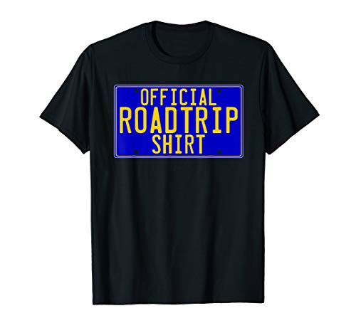 Official Plate License - OFFICIAL ROAD TRIP SHIRT LICENSE PLATE