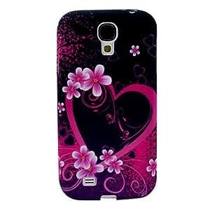 JOE Lovely Heart Flower Pattern TPU Soft Case for Samsung Galaxy S4 I9500