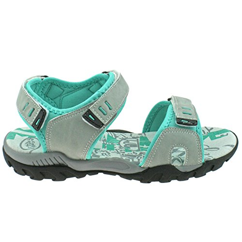 Walking 7 L498 Light PDQ EU KD UK Ladies 40 Grey Adjustable Sports Sandals Mint aqTg4ZBxw