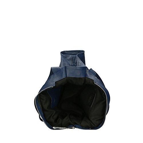 Bleu Bandoulière Pour Sac Fabriqué À Cm Cuir Véritable Italie 34x31x10 En Femme Aren 7qT6RZ