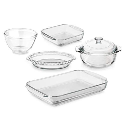 Libbey Baker's Basics 5-Piece Glass Casserole Baking Dish Set