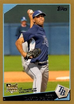 2009 Topps Gold 35 David Price Baseball Rookie Card Only 2 009