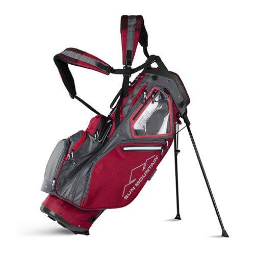 Sun Mountain 2018 5.5 LS Stand/Carry Golf Bag - Chili-Gunmetal