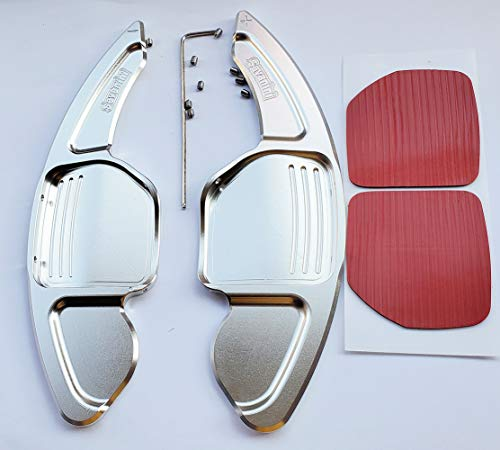 Maple leave Steering Wheel Shift Paddle for Audi A3 A4L A5 A6L A8 S5 S6 S8 Q5 Q7 RS6 R8 TT TTS Curve Versions(Silver)