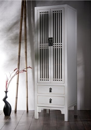 Asien LifeStyle Hochzeitsschrank Schrank Tibet Natur Holz Asia Möbel Möbelstück Massivholz