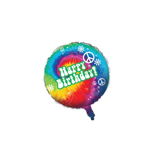 Creative Converting Tie Dye Fun Happy Birthday Metallic Balloon, 18-Inch (Tie Dye Invitations compare prices)