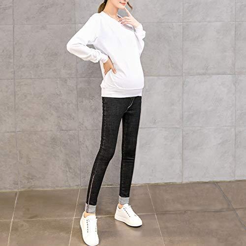 Tempo Jeans Denim Maternità Libero The Donne Incinte Bump Over Premaman Di Nero Abiti Hzjundasi Magro Pantaloni Addensare Caldo wdfaSIqw