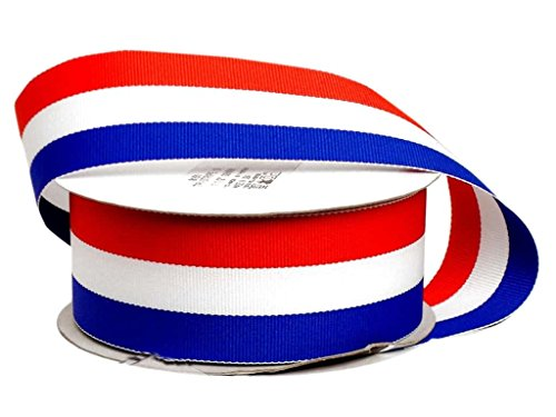 Offray Tri-Stripe Woven Ribbon 1 1/2 in. Patriotic (10 ()