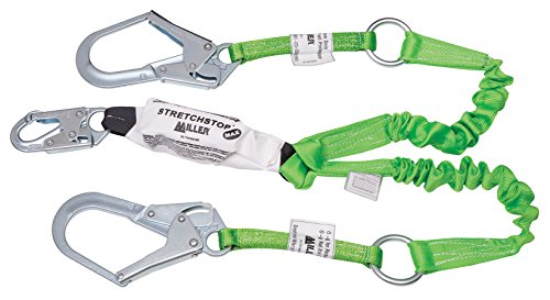 Miller by Honeywell 980RSS-RR-Z7/6FTGN Stretchstop Lanyards with Rescue Loops, 6'