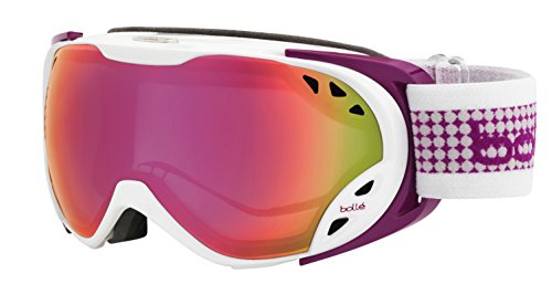 Bolle 21136 Duchess Ski Goggle, White and Plum - Ski or Snow