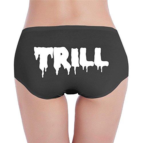 Lady Trill Blood White Logo Soft Low Waist Hipster Underwear