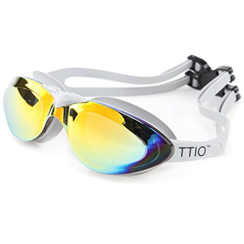 344f555758 TTIO Swimming Goggles Anti-fog UV Protection Unisex Wide View No Leaking  With Adjustable Strap