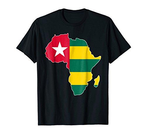 Mens Togolese pride I love Togo flag Africa map tshirt 2XL Black (Africa Map T-shirt)