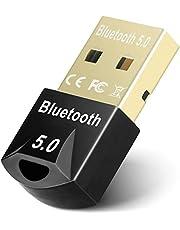 JSTH Bluetooth 5.0 USB-dongel-adapter, Bluetooth-mottagare för hörlurar, mus, tangentbord, TV, bil, högtalare, USB Bluetooth 5.0-adapter stöder Win 7/8/8.1/10