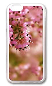 MOKSHOP Adorable heather flower Soft Case Protective Shell Cell Phone Cover For Apple Iphone 6 Plus (5.5 Inch) - TPU Transparent