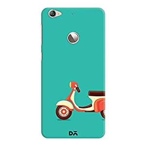 DailyObjects Teal Scooter Case For Le1S Eco