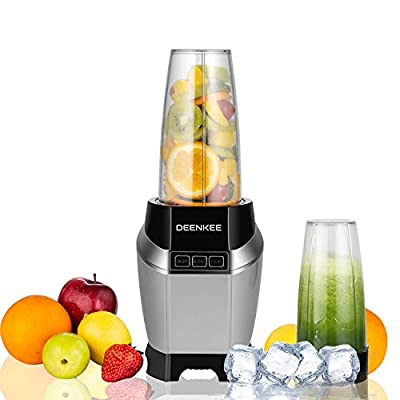Blender, Smoothie Blender, Countertop Blender Make Smoothies Shakes and Frozen Drinks, 1000W and 2000RPM High Speed Motor BPA-Free Bottle Mixer System with Hardcover Recipe Book Included