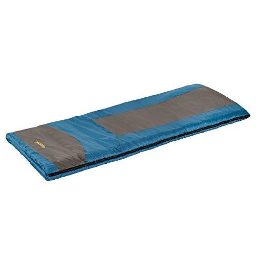 Eureka! Minnow 45 Degree Children's Rectangular Sleeping Bag; Comfortable, Lightweight Three-Season, Thermally Efficient Bag for Kids Camping – Blue/Gray – Children's