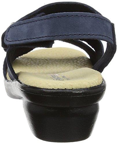 Padders Madeira, Sandales Bride Arriere Femme, Black Patent Reptile Bleu (Navy 25)