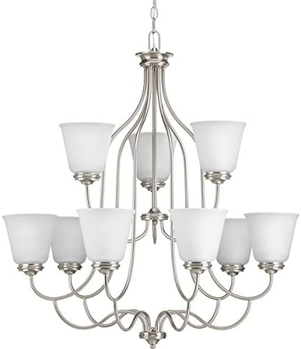 Progress Lighting P4751-09 Transitional Nine Light Chandelier from Keats Collection