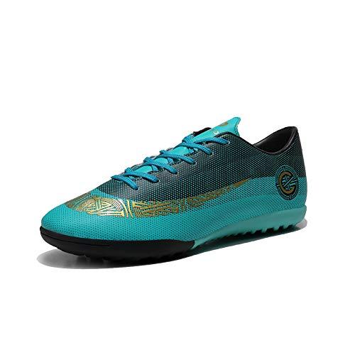 PISDO Turf Soccer Cleats Lightweight Athletic Indoor Training Soccer Shoes Dark Green 8 M US