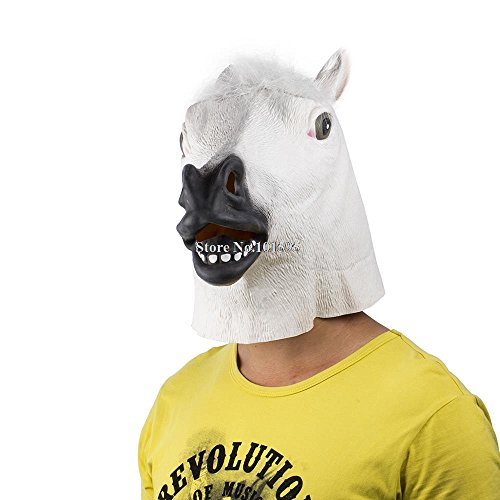 Skuleer(TM)New Happy Hoax Halloween Interesting Dress-Up Horse Masks Novelty Horror Mask for Festival Crazy Party Stage Tools (Halloween Hoaxes)
