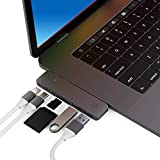 CharJenPro MacStick USB C Hub for MacBook Pro 2019/2016-2018, MacBook Air 2019, 2018, 100W Power Delivery, Thunderbolt 3, 2 USB 3.0, microSD, SD Card Reader, USB C Port (USB-C Hub, Type-C Hub, USBC)