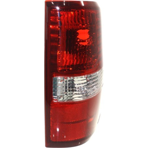 Tail Light Compatible with FORD F-150 2004-2008 RH Lens and Housing Red//Clear Styleside New Body Style