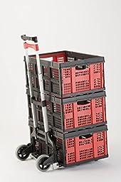 Magna Cart Personal 150 lb Capacity Aluminum Folding Hand Truck (Black/Red)