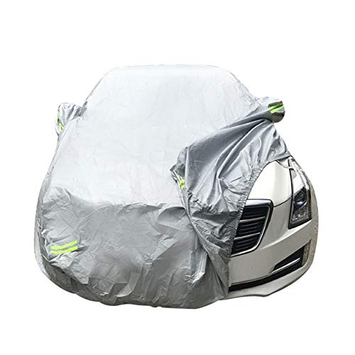 Fine Car Cover,Protection Cover Breathable Outdoor Indoor for All Season All Weather Waterproof/Windproof/Dustproof/Scratch Resistant Outdoor UV Protection (Silvery Grey)