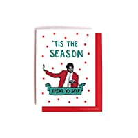 Tom Haverford Treat Yo Self Christmas Holiday Card Parks and Recreation Xmas