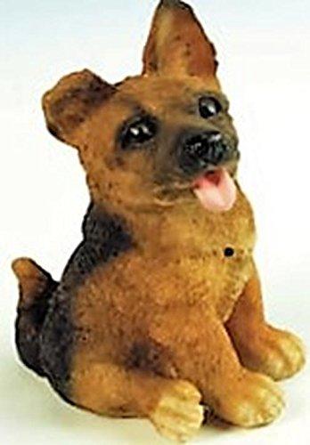 Deko Detector de movimiento perro pastor alemán Wau Wau 23 cm Figura Jardín Alemania PVC gom