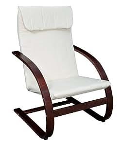 Niche Mia Reclining Bentwood Chair,Mocha Walnut/Beige