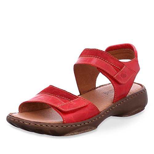Josef Seibel Debra 19, Women's Sling Back Sandals Red Combi