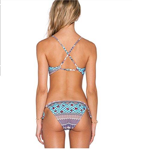 YOGLY Damen Blumen Hollow Push Up Bikini Set Halter gepolstert Bademode  Badebekleidung ...