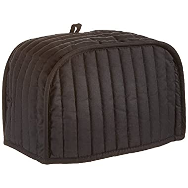 Ritz Quilted Four Slice Toaster Cover, Black