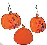 Pumpkin Magic Color Scratch Ornaments (2 Dozen)