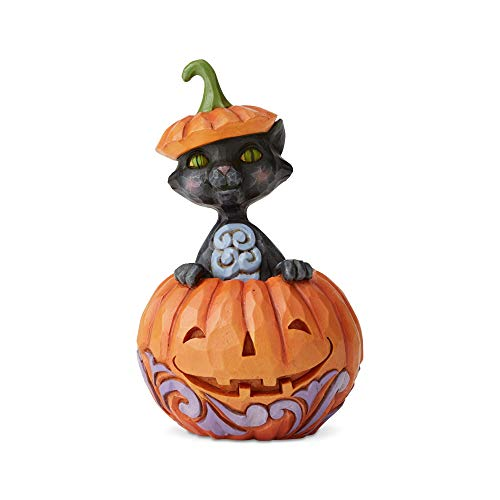 Enesco Jim Shore Heartwood Creek Cat in Pumpkin Mini -