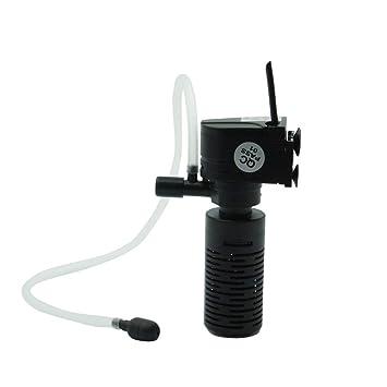 Ogquaton Profesional Ultra silencioso 3 en 1 purificador de Acuario Acuario Filtro de Acuario Construido Filtro 3W Cubo Bomba de oxígeno: Amazon.es: ...