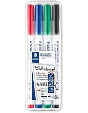 Staedtler 301 WP4 Lumocolor Drywipe/Whiteboard Pen - Assortiment, Pack van 4