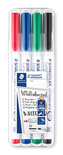Staedtler 301 Lumocolour Dry Wipe/Whiteboard Pen - Assorted Colours, Pack...