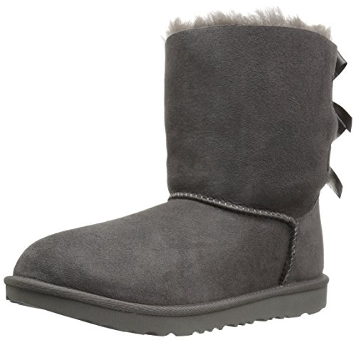 UGG Kids K Bailey Bow II Pull-on Boot, Grey, 4 M US Big Kid -