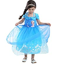 Kids Cartoon Cosplay Sequins Lace Costumes Dresses For Halloween