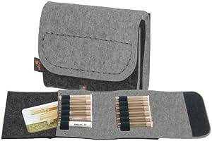 ebos Homeopatía botiquín de bolsillo, botiquín de viaje, bolsa para glóbulos de fieltro gris/gris claro con 12 trabillas: Amazon.es: Salud y cuidado personal