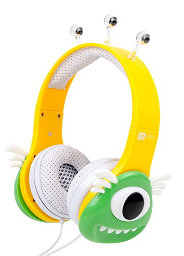 DURAGADGET Colourful Green and Yellow Children's Monster Headphones Compatible with VTech Innotab 3, VTech Innotab - Innotab 3 Accessories