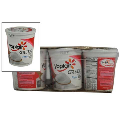 Yoplait Greek Yogurt, 0 Percent Milkfat, Plain, 32 Ounce -- 6 per case. by General Mills (Image #1)
